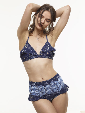 25% OFF: The Becca High-Waisted Swim Bottom in VAUTE Star Print - XS and S Only!