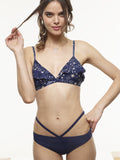 FINAL SALE: Sophie Ruffle Bikini Top in VAUTE Star Print and Black