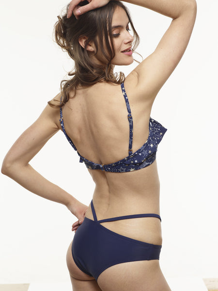 The Ursula V-Swim Bottom in Midnight Blue (3 LEFT in M)