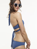 FINAL SALE: Ruched Swim Bottom in Stargate Blue, Star Print, and Black