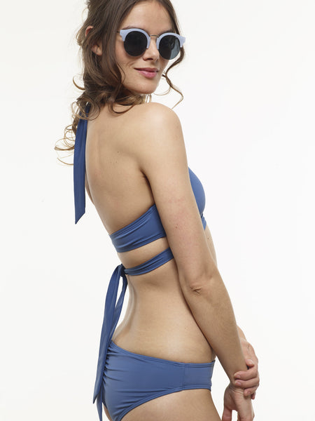 40% OFF: Karolina Wrap Swim Top in Stargate Blue