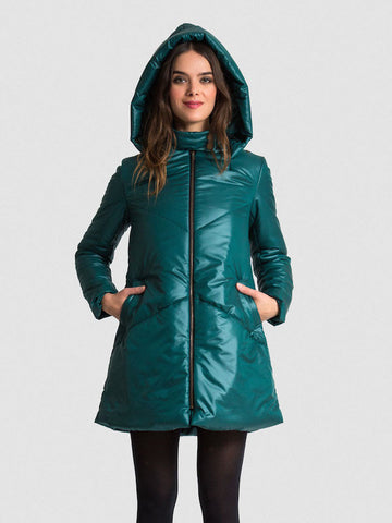 SHIPS NOW 40% OFF: The EMMY A-Line Snow Coat - Forest