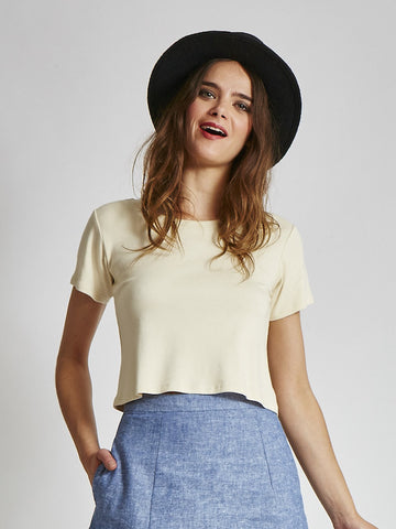 The VAUTE Crop Top - Natural