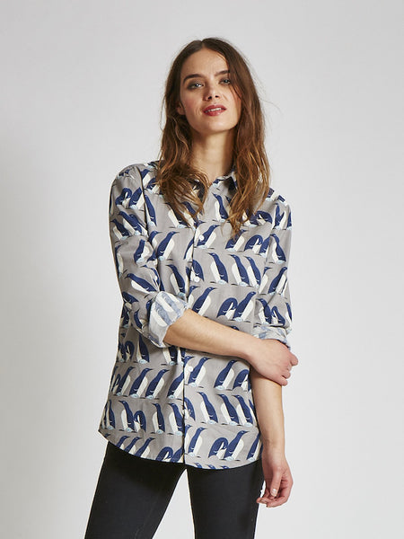 15% OFF: Organic Button Down on Her - Multiple Prints