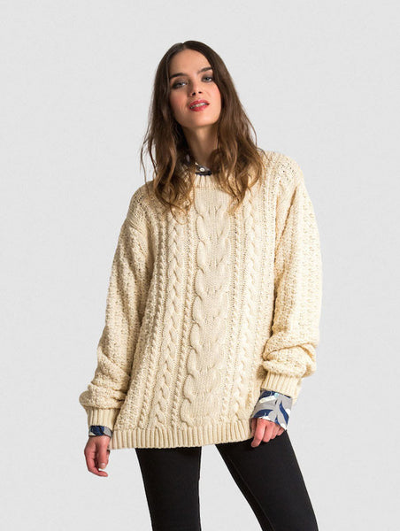 The Vaute Aran Sweater - Ivory