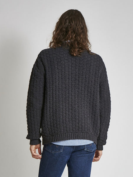 15% Off: Vegan ARAN Sweater on Him - Black