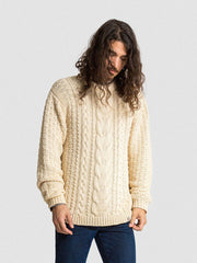 15% OFF: VAUTE Vegan Aran Sweater on Him - Ivory