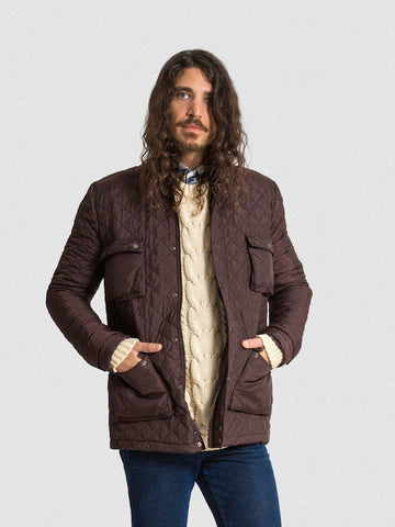 35% Off: The Derek In Quilted - Cognac & Black (Insulated in Primaloft ECO)