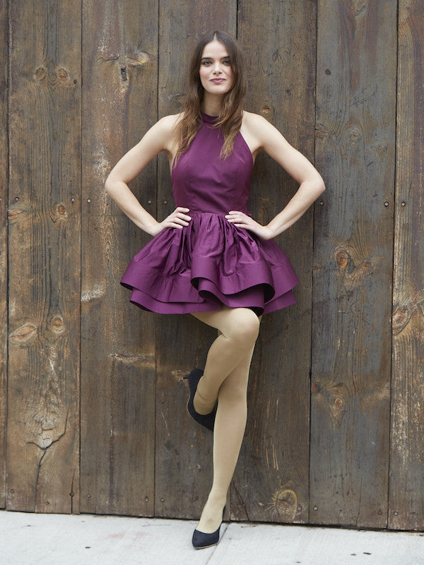 FINAL SALE: The PEMA Party Dress in Satin - Eggplant | VAUTE