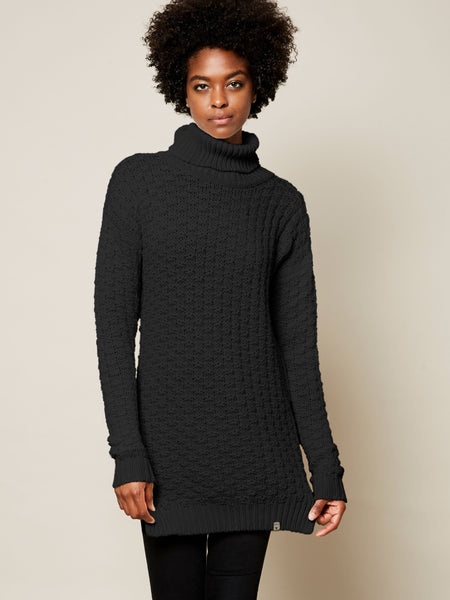 The Gender Neutral Turtleneck Sweater in Black