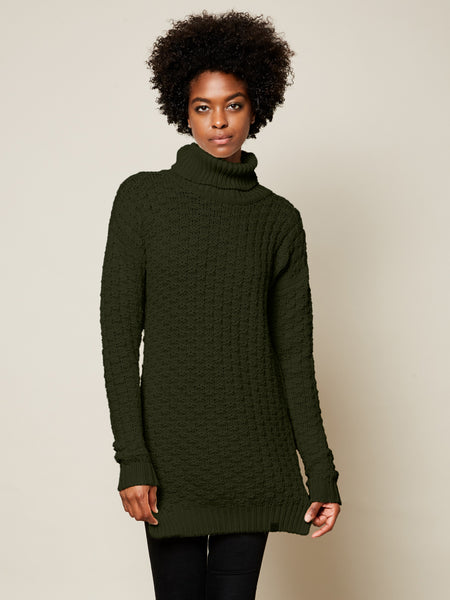 Preorder: The Turtleneck Sweater in Forest on Her