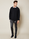 The Gender Neutral Aran Sweater in Cloud