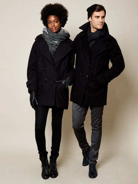 The Classic Gender Neutral VAUTE Peacoat in Black [soldout]