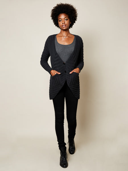 The Anais Cardigan in Black