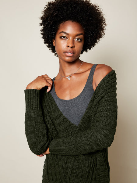 The Anais Cardigan in Forest