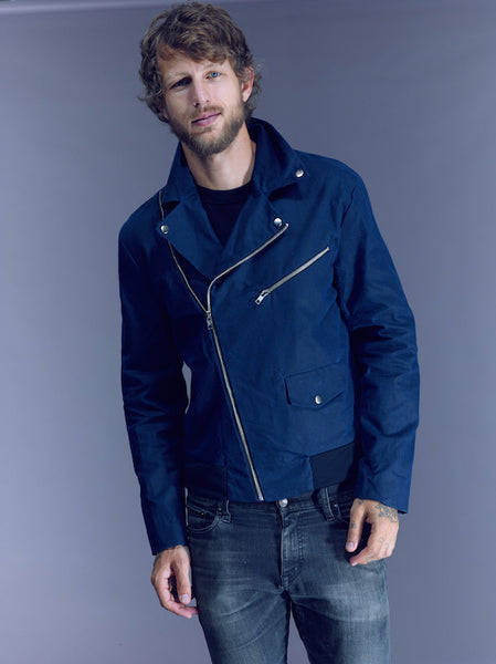 15% Off: The James in Navy Waxed Canvas on Him