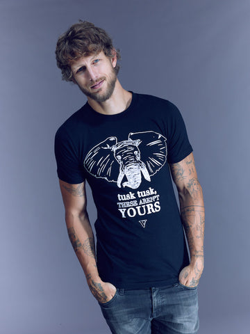 Tusk, Tusk Organic Tee in Black [Benefit for The Elephant Sanctuary]