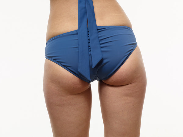 40% OFF: Ruched Swim Bottom in Stargate Blue (Also in VAUTE Star Print)
