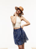 40% OFF: Ballet Chiffon Wrap Skirt in VAUTE Star Print
