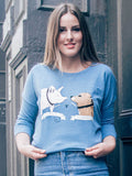 Esther the Wonder Pig Pullover in Light Blue [Benefit for Happily Ever Esther]