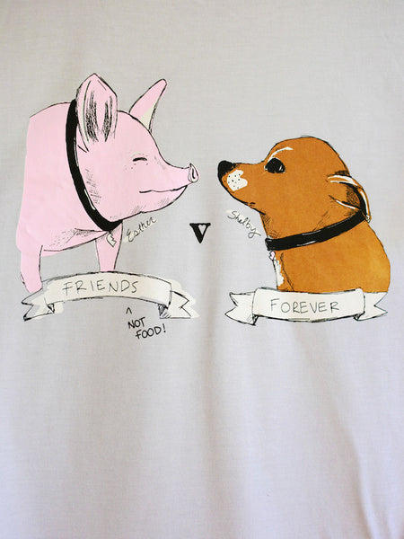 Esther the Wonder Pig Organic Tee in Grey [Benefit for Happily Ever Esther]