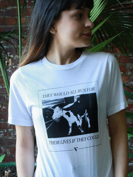 Freddie the Cow Tee in Frost Organic Bamboo [Benefit for Skylands Sanctuary]