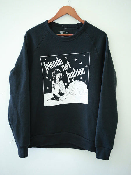 Friends Not Fashion Sweatshirt in Black