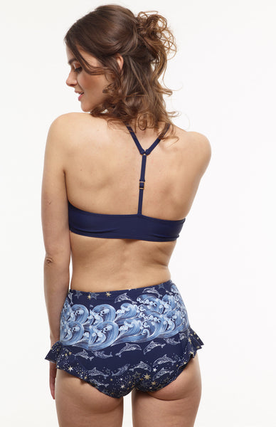 40% OFF: The Becca High-Waisted Swim Bottom in VAUTE Star Print - XS and S Only!