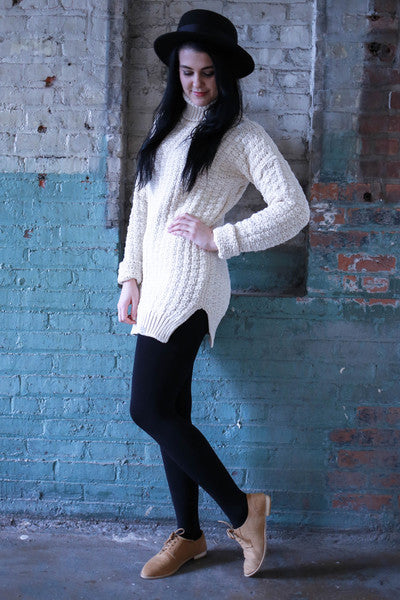 ALMOST SOLDOUT: 15% Off: VAUTE Vegan Sweater Dress - Ivory