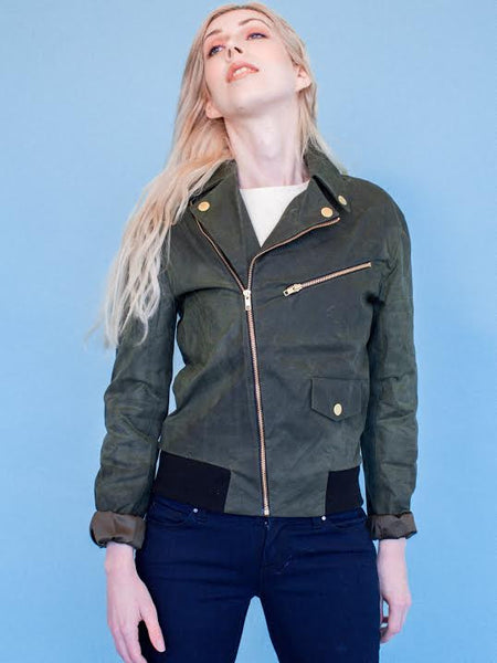 15% Off: James Waxed Motorcycle in Olive on Her