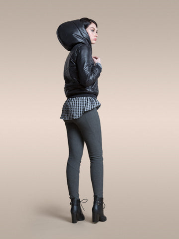 The Cozy Vaute Leggings - Charcoal and Navy