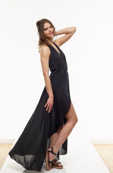 35% OFF: Vanessa Maxi Dress in Black