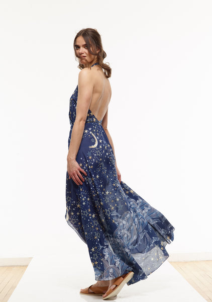 Vanessa Maxi Dress in the VAUTE Star Print