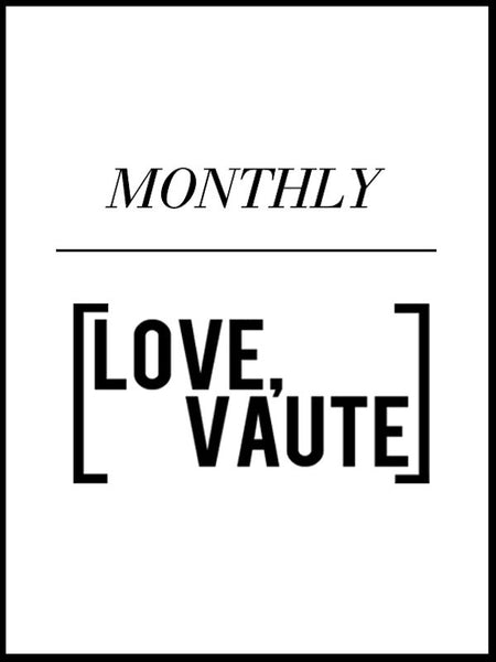 [Love, VAUTE] Monthly (2 tops/month $25 each!)