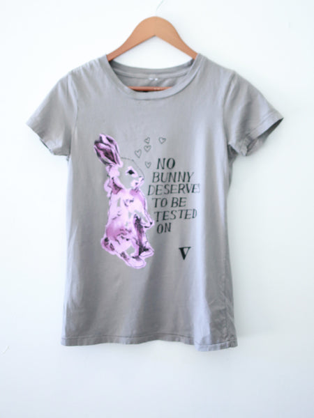 No Bunny Tee in Light Grey [Supporting #BeCrueltyFree]