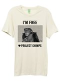 VAUTE x Project Chimps Unisex Crew Organic Tee - Coal and Natural