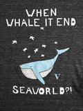 FINAL SALE: When Whale It End?! Tank in Heather Black [Benefit for WDC]