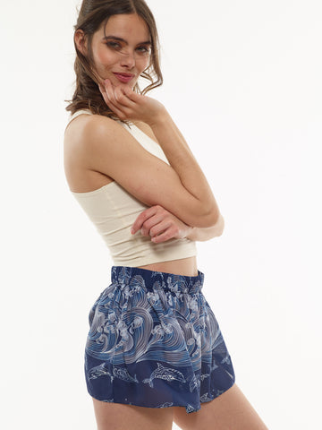 35% Off: Molly Chiffon Shorts in VAUTE Star Print