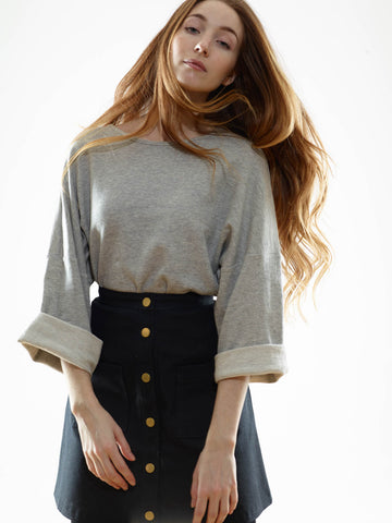 15% Off: The Organic Cropped Crossover Sweater