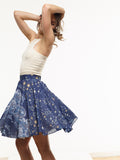 40% OFF: The Vegan Chiffon Reading Skirt in VAUTE Star Print