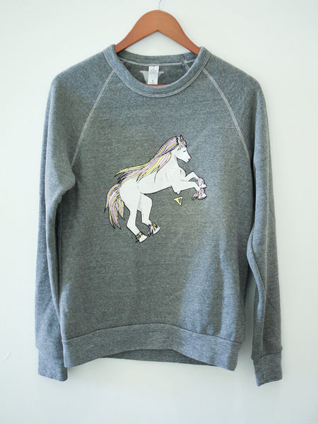 Magical Horses Sweatshirt in Grey [Benefit for Rosemary Farm Sanctuary]