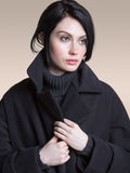 The Classic VAUTE Peacoat in Black on Her