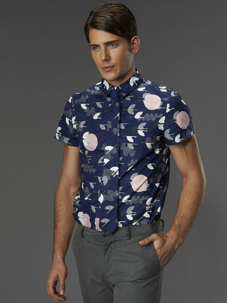 Short Sleeve Button Down-Multiple Prints