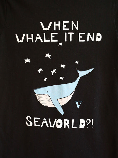 When Whale It End?! Organic Tee in Black [Benefit for WDC]