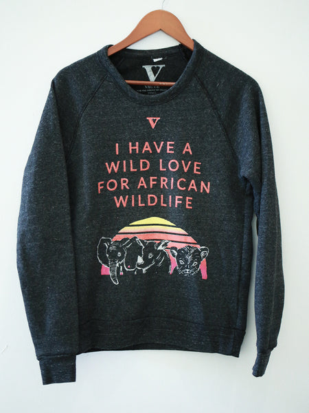Wild Love for Wildlife Sweatshirt [Benefit for AWF]