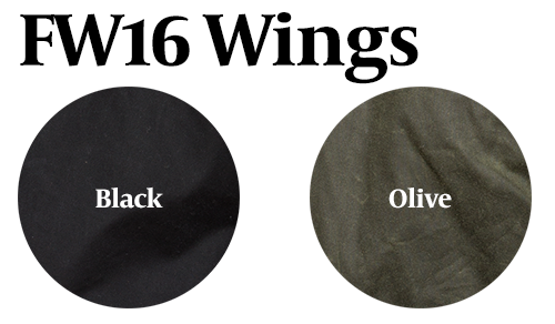 15% Off: The Wings - Waxed Canvas Solid Moto in Black and Olive