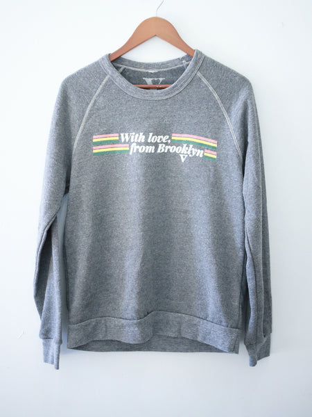 With Love, From Brooklyn Sweatshirt in Grey