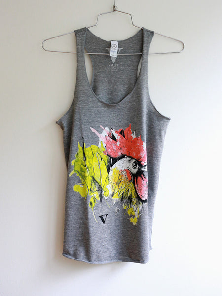 Chinese Zodiac Rooster: VAUTE x Mia Tank in Grey [Benefit for Poplar Spring Animal Sanctuary]