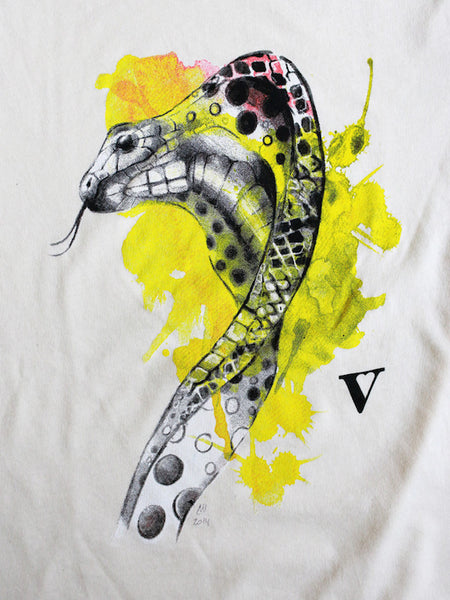 Chinese Zodiac Snake: VAUTE x Mia Recycled Tee in Natural