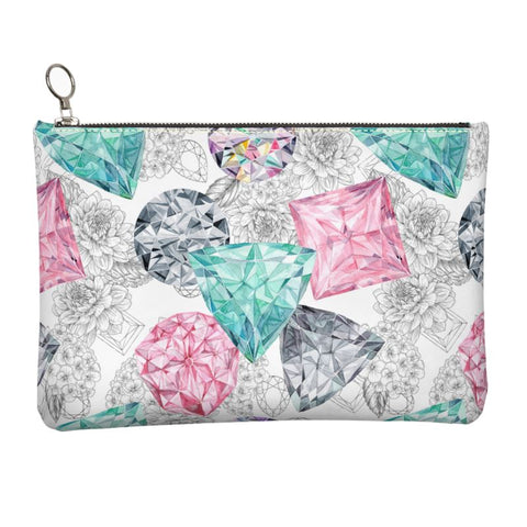 Bling Bouquet Leather Clutch